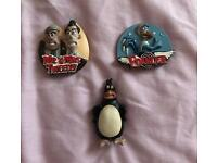 A Set Of 3 Magnets From The Film Chicken Run Excellent Condition