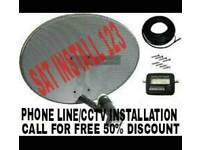 Sky aerial cctv cable extension diy