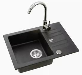 Granite Kitchen sink with tap