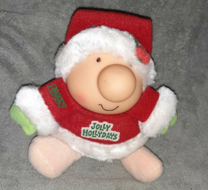 Vintage 1975 Ziggy Christmas Plush Santa Jolly Holidays Doll American Greetings