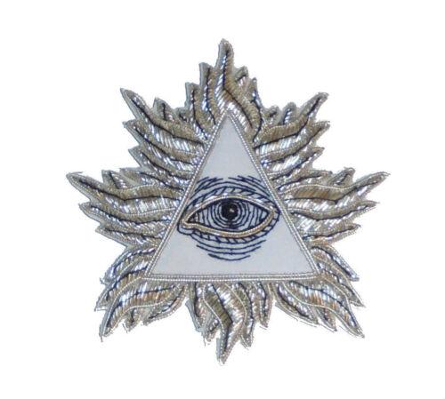 Secret Society Illuminati NWO Pyramid All Seeing Eye Cosmic Sci UFO Patch Astral