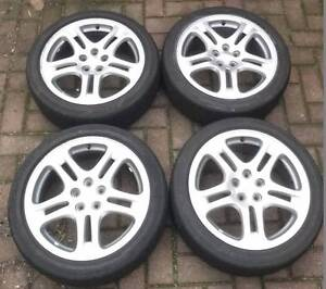 "Set of 4x Subaru 17x7"" WRX Silver Mag Wheels and Tyres for Sale Glenunga Burnside Area Preview"