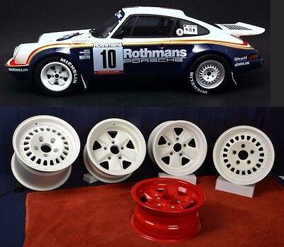 Porsche 1984 911SC RS Rothmans Rally Car Wheels 9 & 11 x 15 with Spare