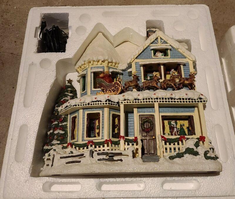 "Thomas Kinkade ""The Night Before Christmas"" Story House, Tested Working w/ COA"
