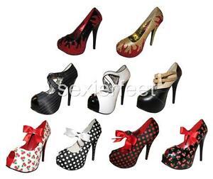 BORDELLO-Sexy-Heel-Hidden-Pltf-Pumps-Teeze-23-24-25-27