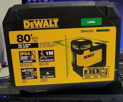 Dewalt Dw03601cg 360 Degree Green Beam Cross Line Laser New 2019 Model