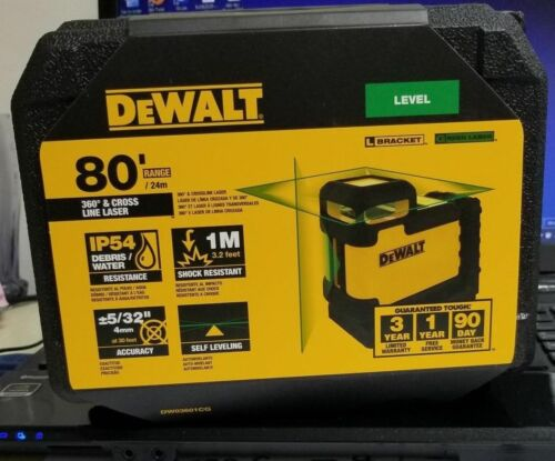 DeWalt DW03601CG 360 Degree Green beam Cross Line Laser New 2019 model