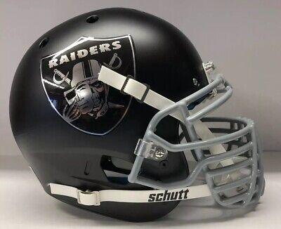 Oakland Raiders Authentic Schutt Custom Full Size Football Helmet Big Grill Oakland Raiders Authentic Helmet