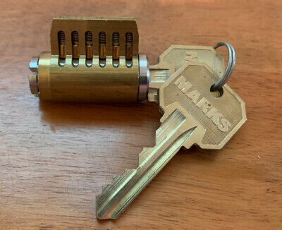 Marks Cutaway Lock 6-pin Rekeyable Cylinder For Instruction Demonstration