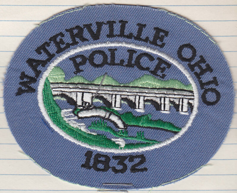 Waterville OH Ohio Police FACTORY SAMPLE patch card RARE!