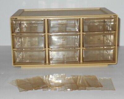 Vintage Akro Mils Plastic Storage Box Bins Cabinet 9 Drawer Wseparators