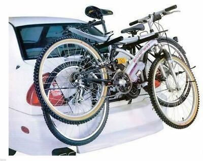 UNIVERSAL CAR 2 BIKE CARRIER BICYCLE RACK FITTING SALOON HATCHBACK ESTATE REAR