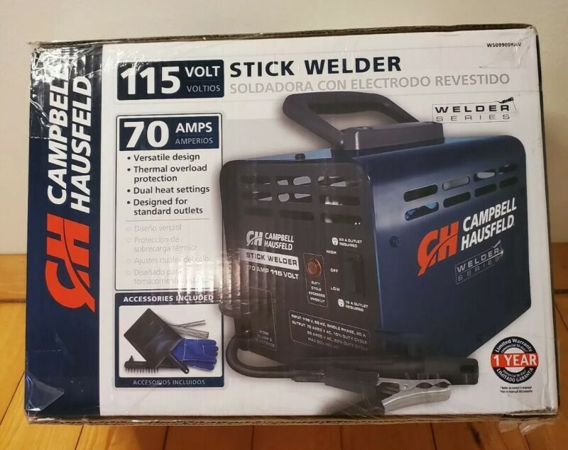 CAMPBELL HOUSEFELD 115-VOLT STICK WELDER WITH WELDING KIT #WS099098AV - New!