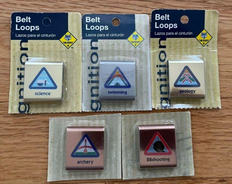 VINTAGE BSA Cub Scout Advancement BELT LOOPS Lot of 5