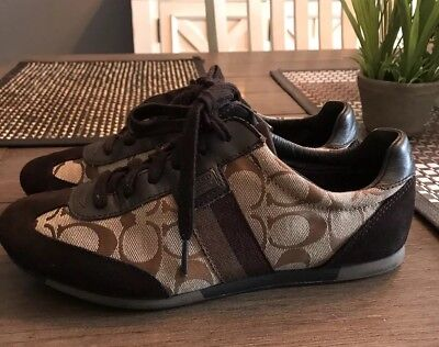 Women's Coach Joss Signature Tennis Shoes - Size 8 - Brown