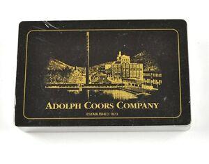 ADOLPH-COORS-empresa-BIER-cartas-juego-EE-UU-DE-CERVEZA-Negro