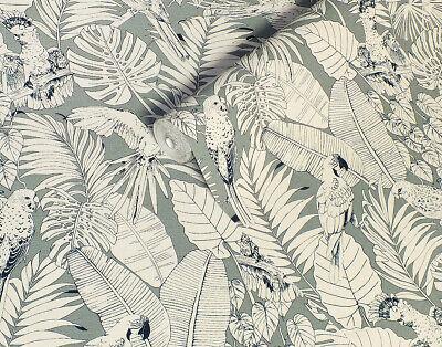 Slightly Textured Solid Vinyl, Paste the Wall, Jungle Parrots Designer Wallpaper (Jungle Vinyl Wallpaper)