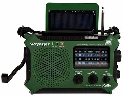 Katio Ka500l Am Fm Shortwave Dynamo Solar Crank Emergency Weather Radio Green