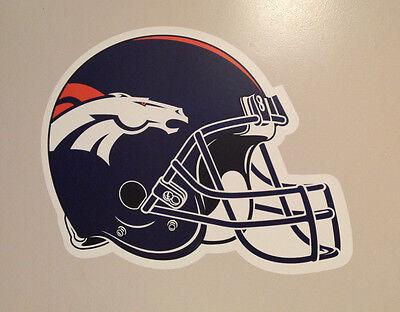 "Denver Broncos FATHEAD Official Team Helmet Graphic 20"" x 15"" NFL Wall Graphics"