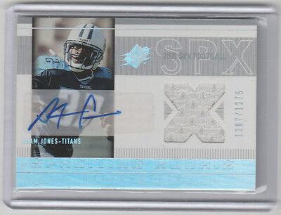 ADAM JONES 2005 SPX Rookie Jersey Autograph #194 SP RC AUTO JSY #/1275 Pacman