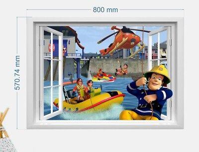 Feuerwehrmann Sam Wandtattoo  Fireman Sam wall stickers Wandaufkleber 57X80cm (Fireman Tattoo)