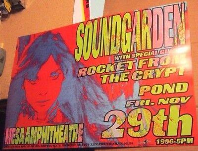 Soundgarden 1996 Concert Poster Arizona - Frank Kozik 9654 S/N