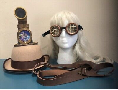Nautical Steampunk Accessory Set Hat Goggles Suspenders