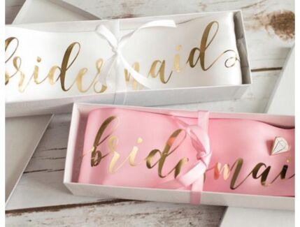 Bride to be sash- handmade