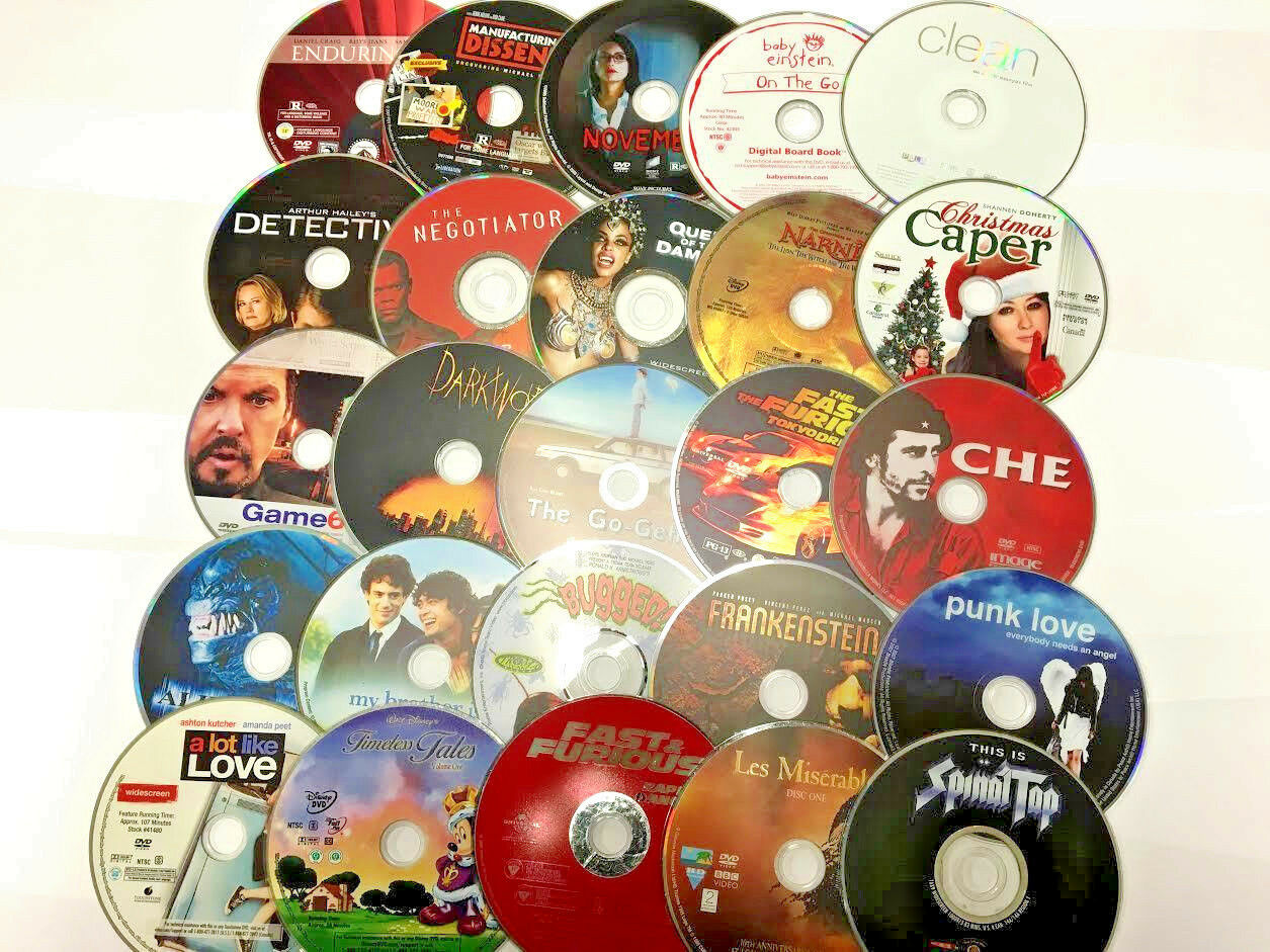 WHOLESALE LOT OF 9 USED DVD'S ASSORTED MOVIES BULK MIXED TITLES- EXP SHIPPING