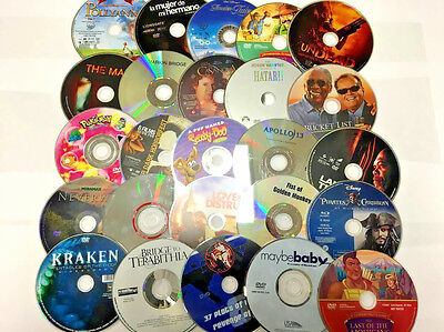 LOT OF 50 USED DVD'S BULK MOVIES WHOLESALE LOT ASSORTED TITLES-FREE EXP SHIPPING