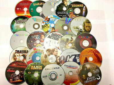 WHOLESALE LOT OF 100 USED DVD'S ASSORTED MOVIES BULK MIXED TITLES- FREE SHIPPING