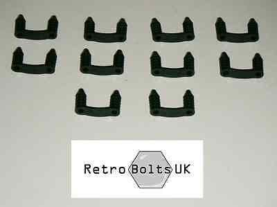 Engine Bay Wiring Loom BLACK Clips (Ford Logo)  Mk1 Mk2 Mk3 Capri Cortina Anglia