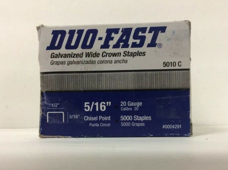 "Duo-Fast Staples 5/16"" No 5010c Mostly Full Duo-Fast Tacker (see Pictures)"