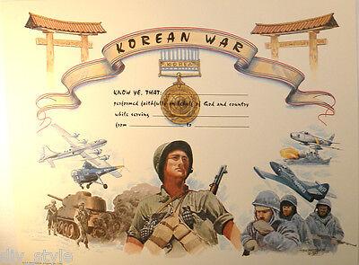 Korean War Certificate blank unused mint condition US Naval Institute