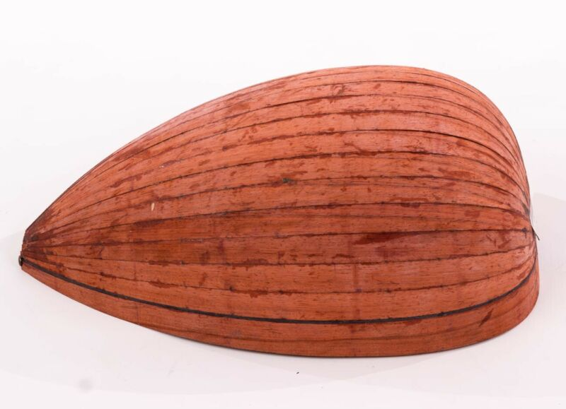 Bowl Part for Making Arabic Oud Walnut + Padouk Wood Bindings - Dry Quality Wood