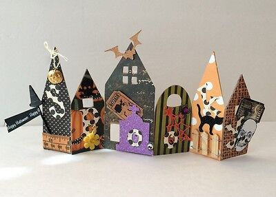 Spooky Haunted Halloween House Home Decor DIY Project KIT Papercrafting - Diy Spooky Halloween Decorations