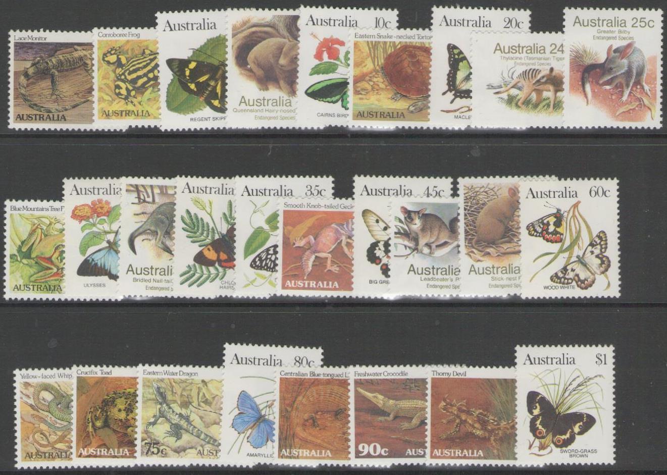 AUSTRALIA SG781/806 1981-3 WILDLIFE MNH