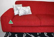 NEWContemporary 3 Piece Lounge Suite Red Warwick Fabric Was $2995 Melbourne CBD Melbourne City Preview
