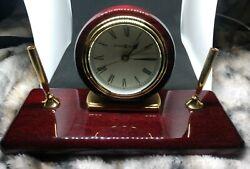 Howard Miller Rosewood Desk  Clock, New -no pens- #613-588 - Retail $190