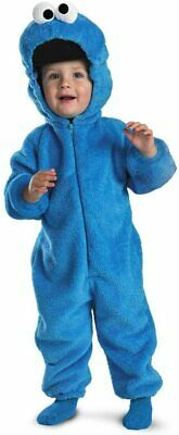 Cookie Monster Deluxe Plush Jumpsuit Halloween Costume -Medium (3T-4T) [C-1982]