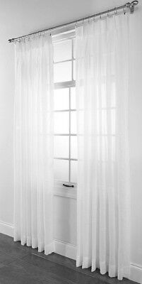 Pleated Sheer Curtains (Splendor sheer pinch-pleated drape pair 84