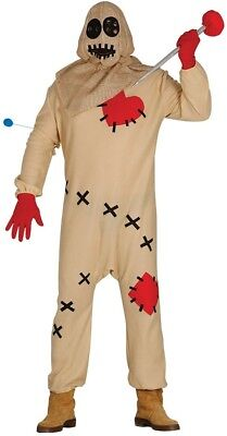 Mens Adult Voodoo Doll Needle Halloween Horror Fancy Dress Costume Outfit M & L