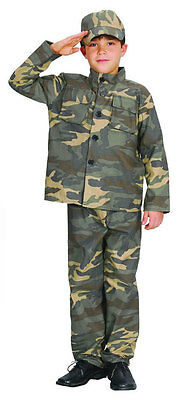 Kids Army Outfit Boys Soldier Costume Fancy Dress Uniform Military Camo Age 4-10 (Childs Army Outfit)