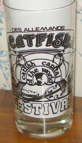 CAJUN CATFISH FESTIVAL GLASS Des Allemands Louisiana La