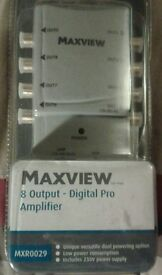 MAXVIEW 8 OUTPUT DIGITAL PRO AMPLIFIER
