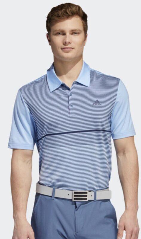 NWT $65 Mens ADIDAS ULT COLORBLOCK Golf Polo - Blue- Dx 4575 : Choose Size