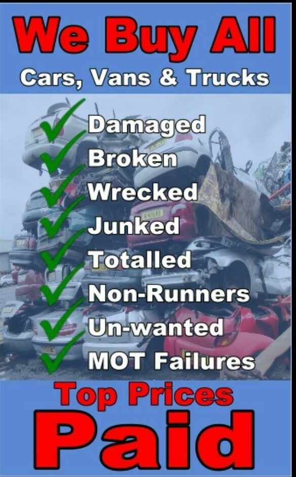 We buy any car damaged scrap cars unwanted mot failures | in ...