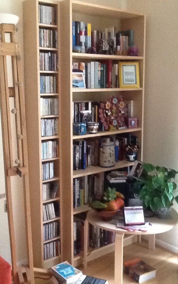 Bookcase cd storage unit ikea billy gnedby birch veneer - Ikea porta cd billy ...