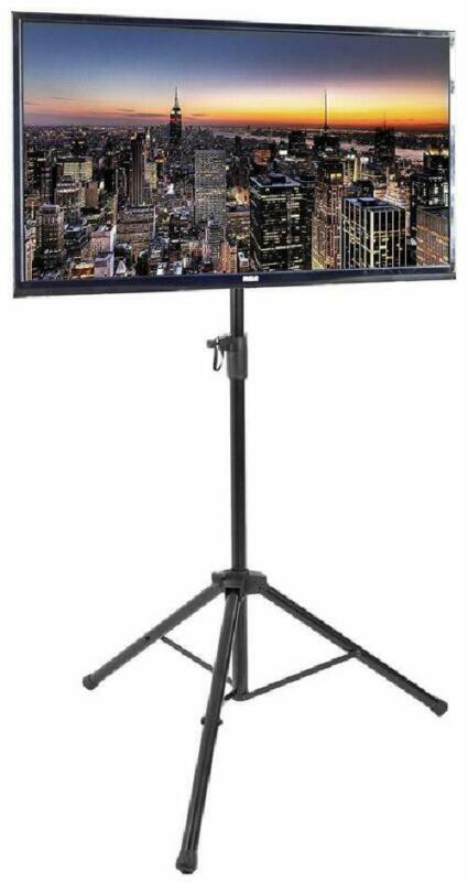 Portable Black Tripod Led Flat Screen Tv Display Floor Stand