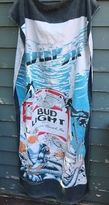 vintage Budweiser Bud Light Deep Six Divers beach towel 1980's